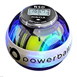 New NSD Powerball 280Hz Autostart Fusion Pro LED Colour Active Gyroscope Ball Arm Exerciser, Wrist & Hand Grip Strengthener - Rehabilitates Tendonitis Elbow, Wrist Pain & Finger Injury