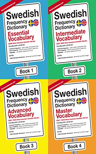 Key & Common Swedish Words -  A Vocabulary List of High Frequency Swedish Words (1000 Words): Learn Swedish Fast With This Swedish Frequency Dictionary Complication Book (English Edition)