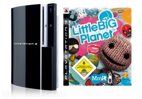 Playstation 3 - Konsole 80 GB inkl. Dual Shock 3 Wireless Controller + Little Big Planet - Ps3 Konsole 80