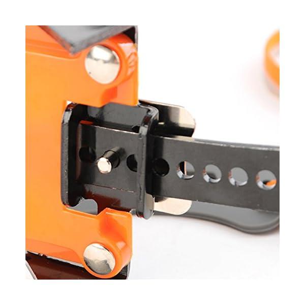 Docooler 14 Puntos Pinzas Dentadas Crampones Escalada en Hielo de Acero al Manganeso Crampón Dispositivo de Tracción (Naranja) 6