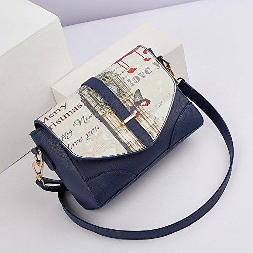 Damen-Mode koreanische Version der Welle Schultertasche, Sommer-Paket, schräge Rucksack, wilde Mini-Persönlichkeit Tasche ( Farbe : Grau ) Saphirblau