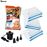 #8: Space Saver Vacuum Seal Clothes Storage Organiser Bags (Set of 6 bags with FREE Pump)