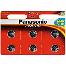 6pk Panasonic CR2025 Coin Battery Batteries Lithium 3V for Watches Torches Keys
