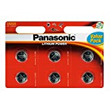 Panasonic Pack Of 6 Lithium CR2025 3V batteries Coin Cell Multi-Purpose New