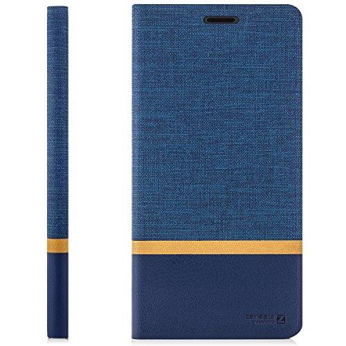 zanasta Tasche kompatibel mit ZTE Blade L110 Hülle Flip Case Schutzhülle Handytasche mit Kartenfach Blau
