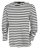 Saint James MINQUIERS- Streifenshirt - Bretagne-Shirts (M, Neige/Noir)