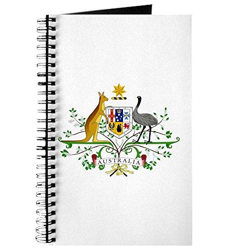 CafePress Notizbuch, Motiv: Australien Wappen - Spiralbindung, persönliches Tagebuch, liniert