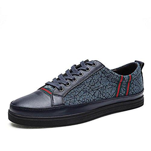 SONGYUNYANHerren outdoor-Freizeit Leinwand Student Fashion-Sneaker Bootsschuh Blue