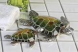 Schildkröte Josie aus Poly in grün/silber 10 cm