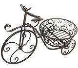 Dehner Deko Fahrrad, ca. 57 x 28 x 39 cm, Metall, bronzefarben