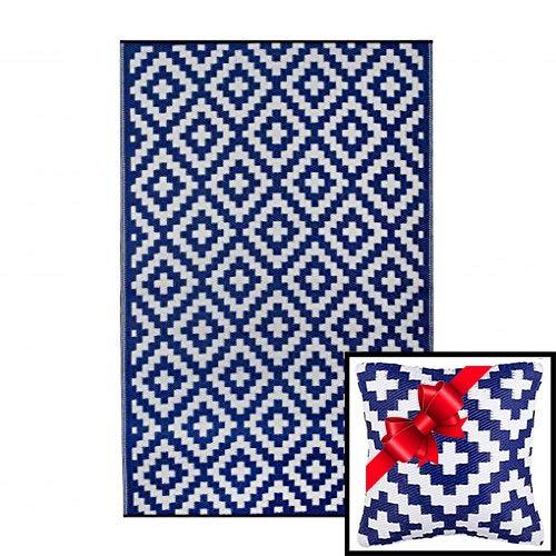 Ambientair R150240AZA Alfombra Exterior, Azul, 150 x 240 cm