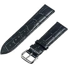 TRUMiRR 22mm cuero genuino de la venda de reloj reemplazo de la correa de la correa de pulsera para Samsung Gear S3 Classic/Frontier, Gear 2 R380 R381 R382, Moto 2 360 46mm, Guijarro Tiempo / Acero, Asus ZenWatch 1 2 Los hombres, LG G Reloj urbano W150