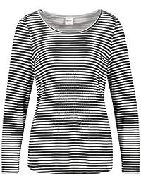 7917cdc4980cbb TAIFUN Damen T-Shirt Langarm Rundhals Gestreiftes Shirt mit Stern Soft
