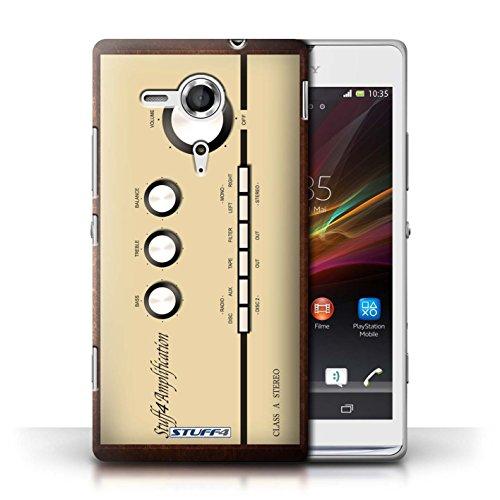 Kobalt® Imprimé Etui / Coque pour Sony Xperia SP/C5303 / Amp/Amplificateur conception / Série Retro Tech Amp/Amplificateur