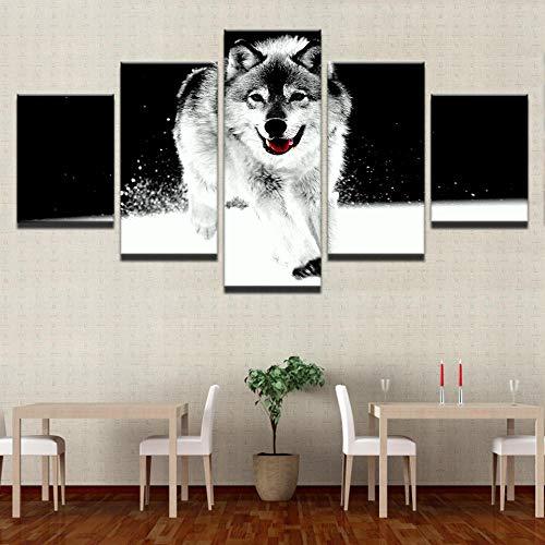 YANGSHUANG Leinwand Gemälde 5 Panel StückWand Künstler