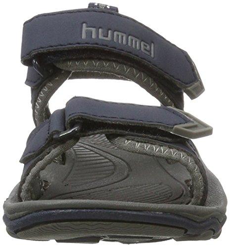 Hummel Sport Jr, Sandales Bride Cheville Garçon Bleu (Total Eclipse)