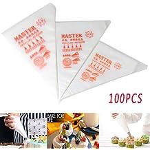 Malayas 100pcs Bolsas de Pastelería Mangas Pastelera Bolsas Desechables para Decoración de Pasteles y Galletas Tamaño