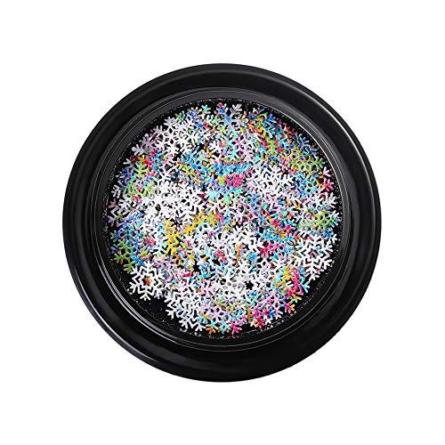 ke Pailletten Nagel Dekoration, DIY kreative Mode Design Hexagon Schneeflocke Nagel Patch ()