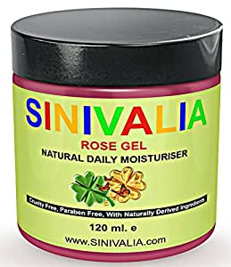 Daily moisturiser by Sinivalia. Anti ageing night or day cream with natural rose oil for dry or oily skin. Anti wrinkle skin care for eyes, neck, hands and feet. Can be used as body lotion after shower or bath. 120 ml.