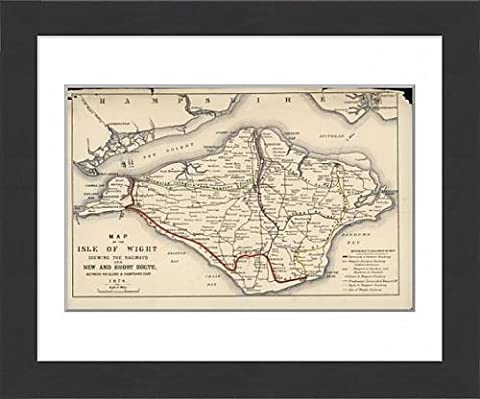 Framed Print Of Map Of Isle Of Wight