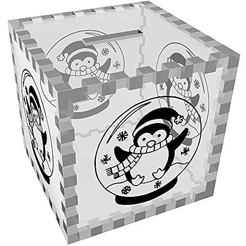 'Penguin Snow Globe' Clear Money Box / Piggy Bank