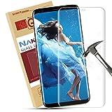 Verre Trempé Galaxy S8,Nakeey Protection écran Galaxy S8 Film de Protection en Verre Trempé [Couverture complète] Dureté 9H Glass Screen Protector pour Samsung Galaxy S8 en Trempé