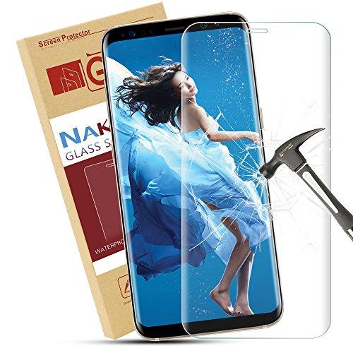 Galaxy S8 Schutzfolie, Nakeey Samsung S8 Folie Panzerglas [Anti-Bläschen] [Vollständige Abdeckung] Transparent Displayschutz Screen protector für Galaxy S8 Displayschutzfolie