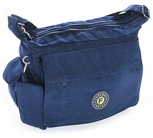 Big Handbag Shop - Borsa a tracolla donna Blu (Blu navy)