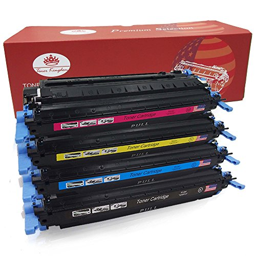 Toner Kingdom 4 Pack Kompatibel HP 124A Q6000A Q6001A Q6002A Q6003A Tonerpatrone...
