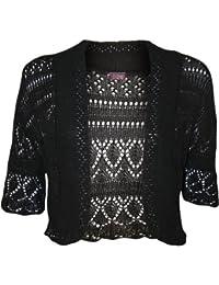 Usure de taille plus décontracté de boléro nouvelles dames sexy crochet à la mode tricot top femme taille haussement 42-46