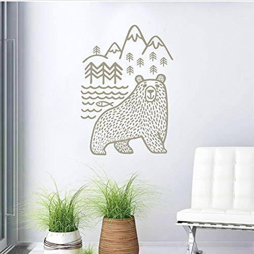Motivational Wall Decal Woodland Mountains Mama Bear Wild Animal Bear Vinyl Wall Stickers Baby Nursery Home Decor 56x80cm b