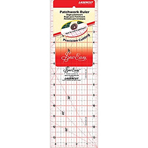 Tacony Corporation Plastic SewEasy Patchwork Quilt Ruler-14-inch x