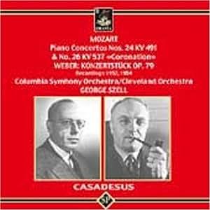 Mozart Robert Casadesus George Szell Piano Concerto No 26 in D Major Coronation Piano Concerto No 27