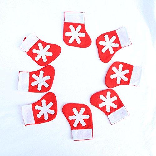 Preisvergleich Produktbild Colorfulword Xmas Table Decoration Socks von Weihnachten Tischdekoration Socken von Weihnachten Besteckhalter Taschen (6 pcs Socks Pockets)