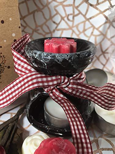 Frohe Weihnachten Geschenkidee 20 Tatar Torten für Weihnachtsdüfte + 1 brennende Essenzen + Teelicht in Augustus Weihnachtsgeschenkbox