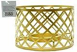 1x Officiel Yankee Candle célébrer Luxe métallique brossé Métal Doré Corps Abat-Jour Jarre Grande Décoration Accessoire-Bougie Non Incluse