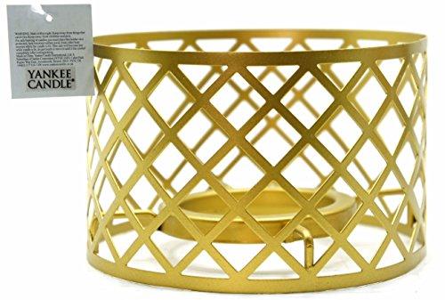 Yankee Candle Lampenschirm, aus gebürsteten Goldmetall, groß, Kerze nicht im Lieferumfang enthalten