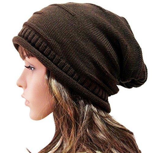 Belsen Unisex Cappello Reversibile Berretto piega Inverno Cap (marrone)