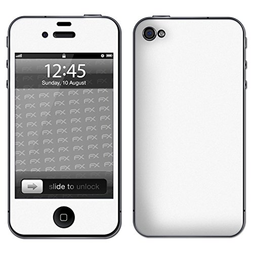 "Skin Apple iPhone 4 / 4s ""FX-Carbon-Black"" Sticker Autocollant FX-Soft-Alpine"