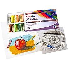 Pentel 100526 - Juego de ceras pastel al aceite (50 unidades), multicolor