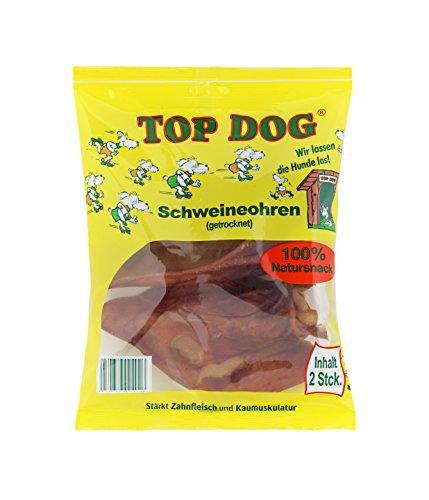TOP Dog® Premium Schweineohren - aus Deutschland - DLG Gold prämiert 1x2 Stück (2 Stück)