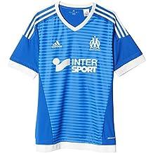 adidas OM 3 JSY - Camiseta para hombre, color azul / blanco, talla L