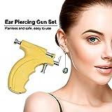 LPWORD Kit Di Attrezzi Per Pistola Perforante Per Perforazione Dell'orecchio Body Set Con 10 Perni In Acciaio Inossidabile