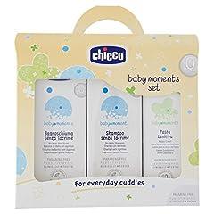 Idea Regalo - Chicco 3207 - Cofanetto bagnoschiuma e shampoo senza lacrime + pasta lenitiva