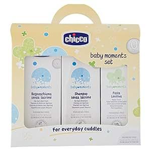 Chicco 3207 - Cofanetto bagnoschiuma e shampoo senza lacrime + pasta lenitiva