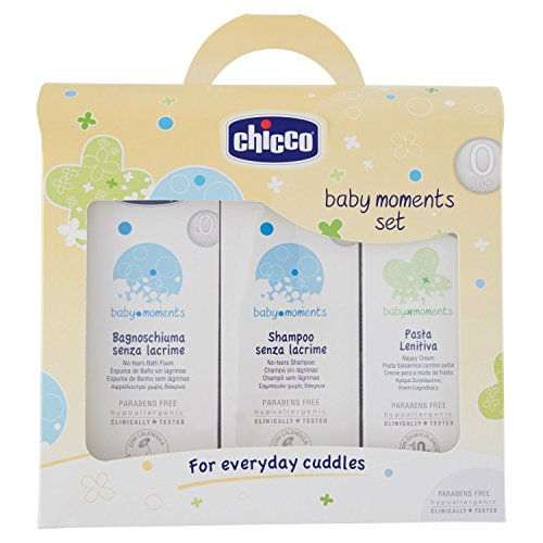 Chicco 3207 - Set of No-Tears Shower Gel and No-Tears Shampoo + Nappy Cream