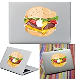 Macbook Autocollant Décalque, YUDA Tech Amovible Hamburger Conception Vinyle Decal Peau Stickers Ajustement Parfait pour Portable MacBook Air/Pro/Retina 13 15 pouce