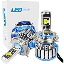 Safego 75W H4 Hi / Lo LED Faros Kit Bombillas CREE 6Chips 7000LM HB2 9003 Alto Bajo LED Kit de Conversión de Coche 12V Reemplazar Para Luces Halógenas o Bombillas HID Lámpara T1-H4