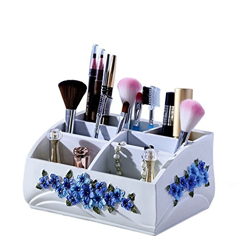 MMM Boîte de rangement Boîte de rangement de bureau Boîte de rangement Creative Salon de style européen Boîte de finition cosmétique ( Couleur : Blanc )