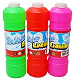 Excellent Value 1000ml Large Bubble Mix Liquid Bubble Blowing Solution - 1 Litre Bubbles Mixture Refill